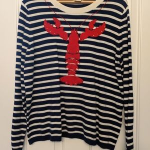 Kate Spade Striped Lobster Sweater